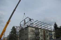 Structura metalică supraetajare si mansardare bloc